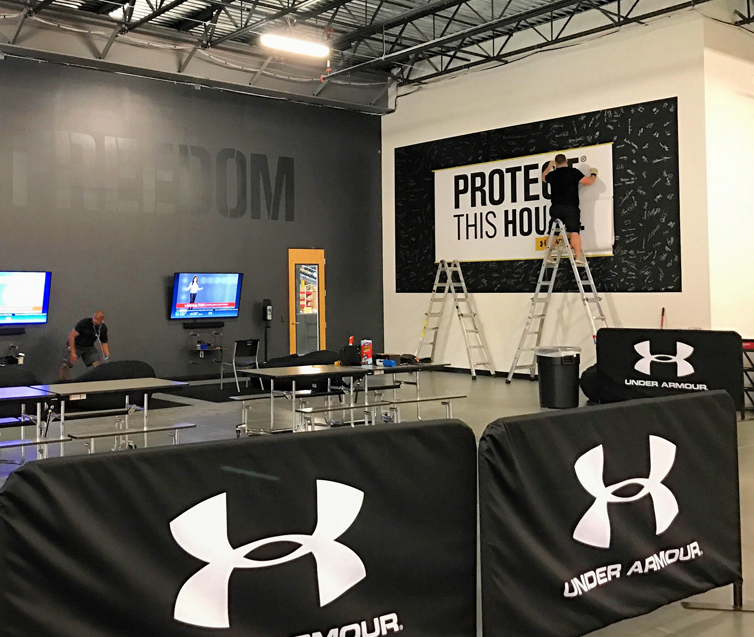 Under Armour Team Area Facility Branding