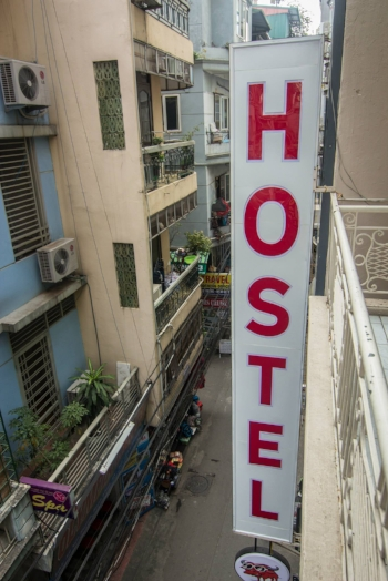 A hostel we stayed at in hanoi, vietnam