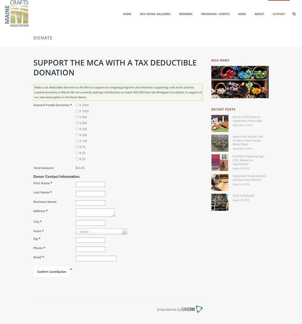 Beehvie-Development-Maine-Crafts-Association-website-Donate-CiviCRM.jpg