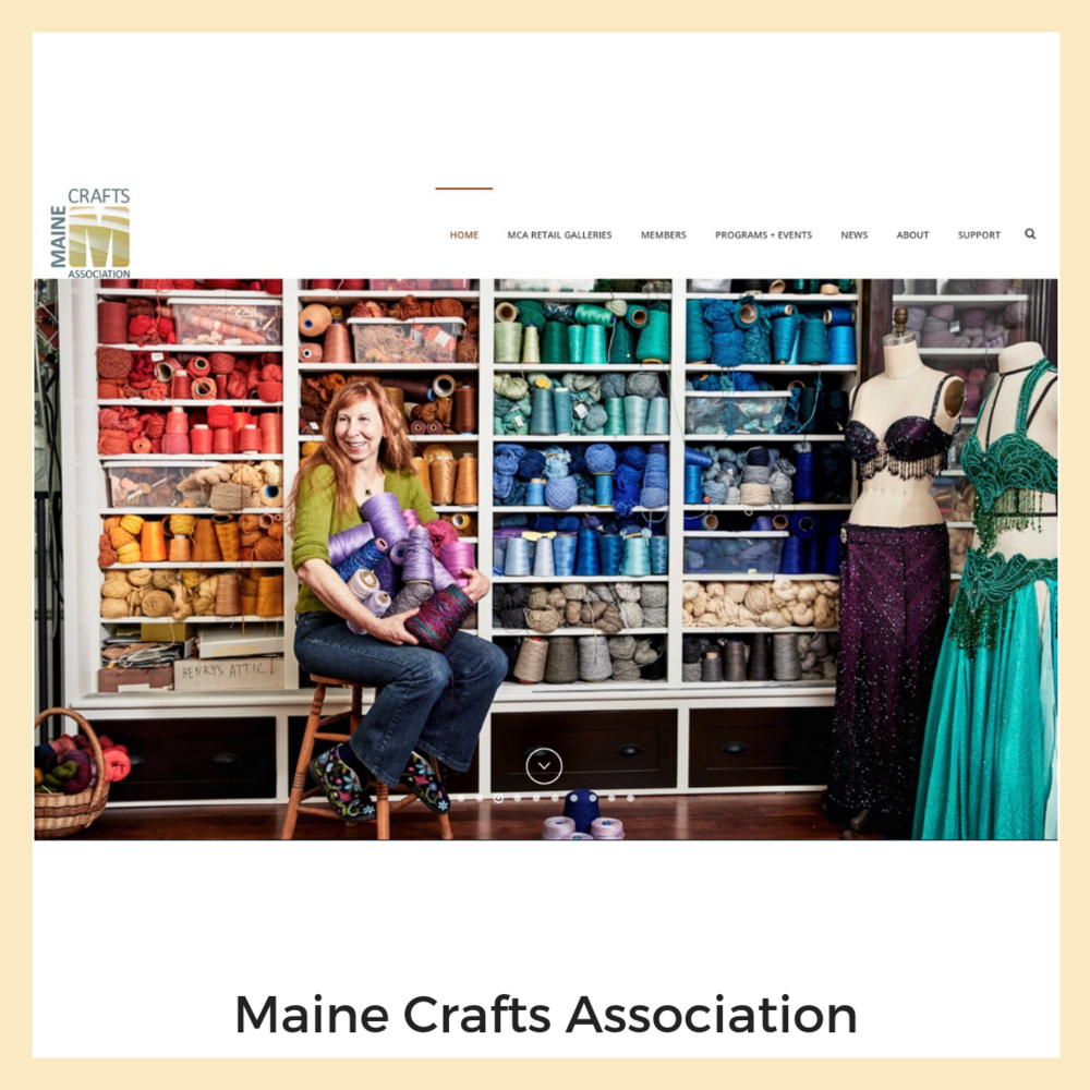 Maine Crafts Association. Website, Content Strategy + Planning.