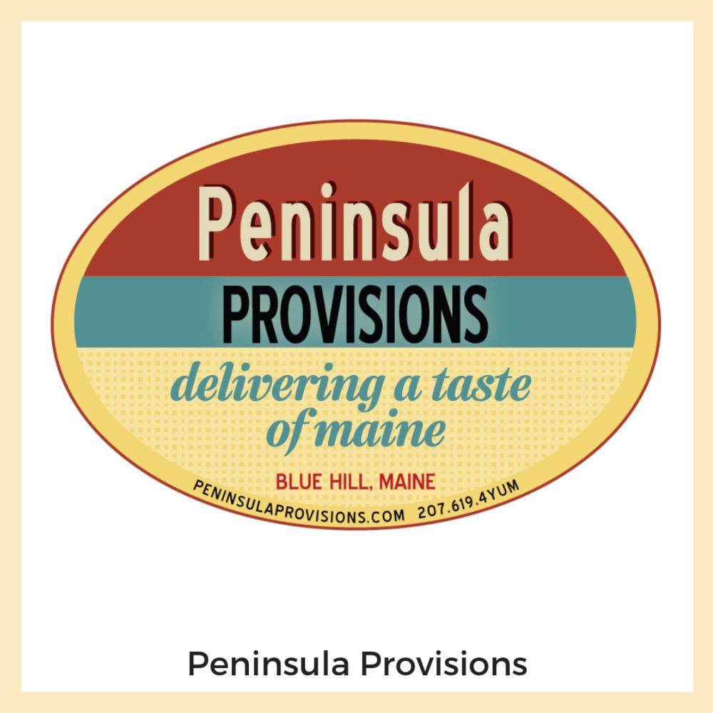 Peninsula Provisions Branding + Logo, Website, Newsletters + Email Marketing, Social Media, Website.