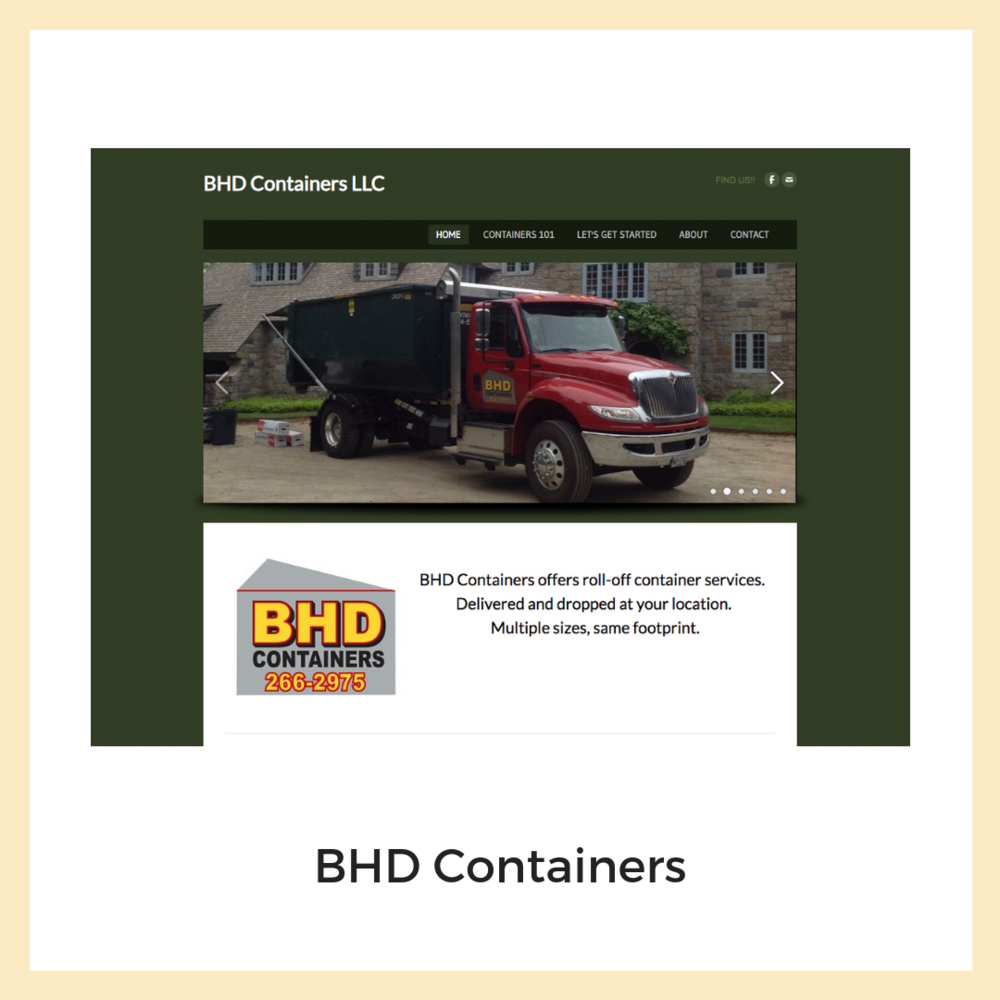 BHD Containers. Website, Content Strategy + Copywriting.