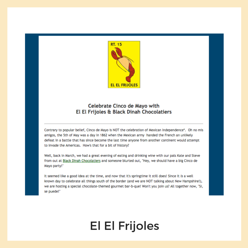 El El Frijoles. Email Marketing + Newsletters