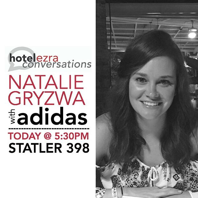 Join us TODAY for a conversation with Natalie Gryzwa, Senior Marketing Manager from adidas Style Collaborations! 🗣 // #HEC92 #hotelezraconversations