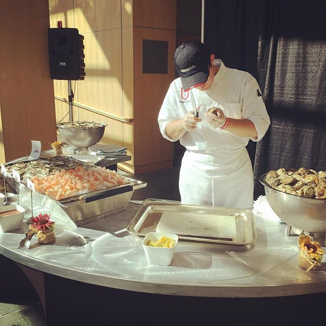 Bringing Homecoming back home at the HEC brunch with a raw bar provided by Bar Harbor Seafood! #hoteliepride #cornellhomecoming2016 #hec92