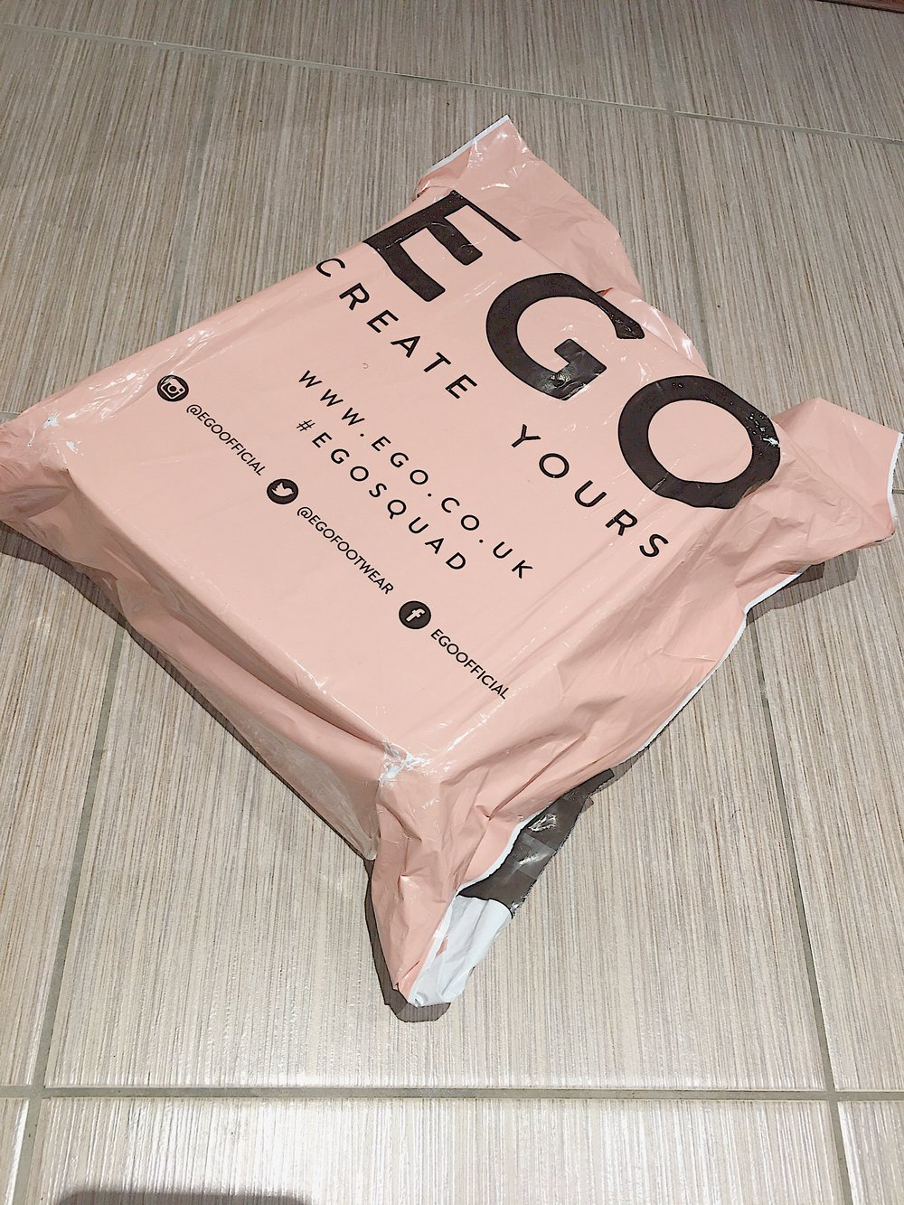 A few days ago Ego official shared their 50% off code on Instagram. The discount was on selected styles which is when this order was made. Originally the item was £35 and I bought them for half the price. Bargain, right?