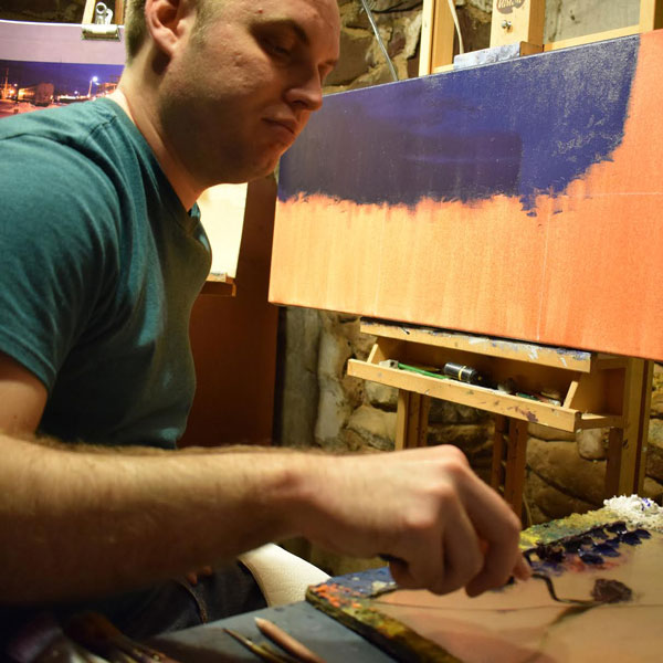 Patrick Seufert, in his studio
