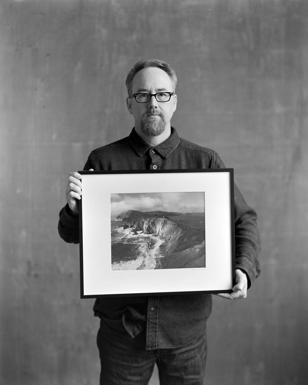 Portrait of Austin Granger Standing with Platinum Palladium Print