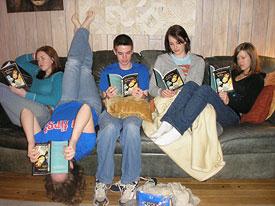 Teens read