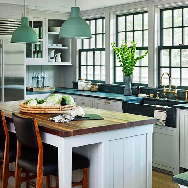 Farmhouse-style with a side of chic. @rafechurchill used our Easton faucet in a Bedford, NY home. #WaterworksKitchen