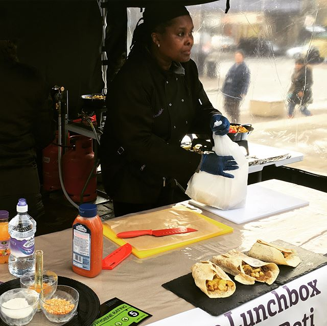 One of our most regular Well Street traders will be joining us this Saturday @bynoelunchbox Check our her tasty chicken, lamb and veggie Caribbean roti! #wellstreetmarket #hackneywomen #internationalwomensday #hackney #wellstreet #streetfood #lunch #yum #roti #caribbean #womeninbusiness #homerton #streettrading #bynoelunchbox