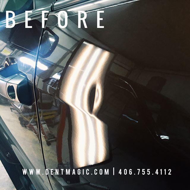 Disappeared with no painting! #dentmagic #theartofpaintlessdentrepair #paintlessdentrepair #paintlessdentremoval #pdr #dent  #dentremoval # dentrepair #dentfree #nopaint #doording #autobody #usa #montana #glaciernationalpark #whitefishmontana #kalispell #craftsman #craftsmanship #vehiclerepair #wefixthat #magic #service #problemsolver