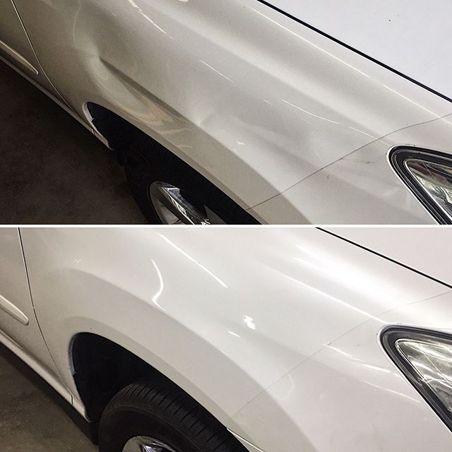 Saved another fender... pearl white Lexus RX350 w/ paint protection film. #dentmagic #theartofpaintlessdentrepair #paintlessdentrepair #paintlessdentremoval #pdr #dent  #dentremoval # dentrepair #dentfree #nopaint #doording #autobody #usa #montana #glaciernationalpark #whitefishmontana #kalispell #craftsman #craftsmanship #vehiclerepair #wefixthat #magic #service #problemsolver