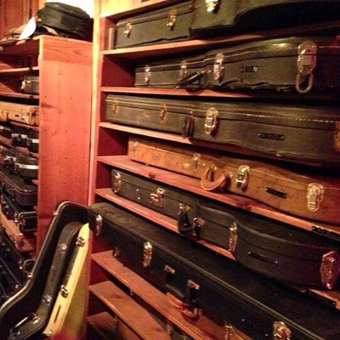 """Got them pretty road cases... Protect our asses, protect our faces, protect our guitars, protect our amps."" - Drive-By Truckers #tbt #sonicranch #drivebytruckers #recordingstudio #revival"