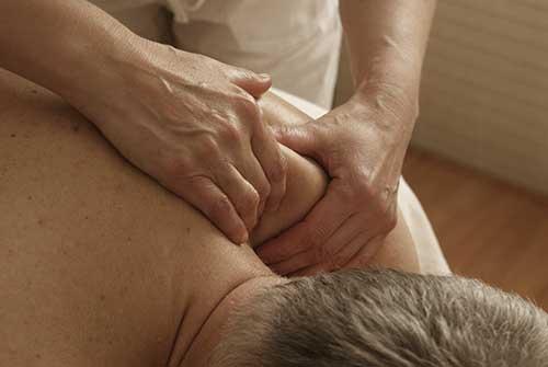 Man having deep tissue massage