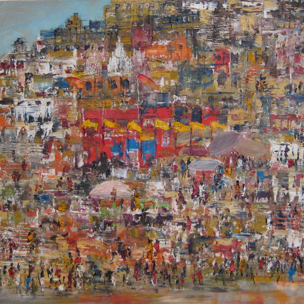 Colour and clamour, Varanasi