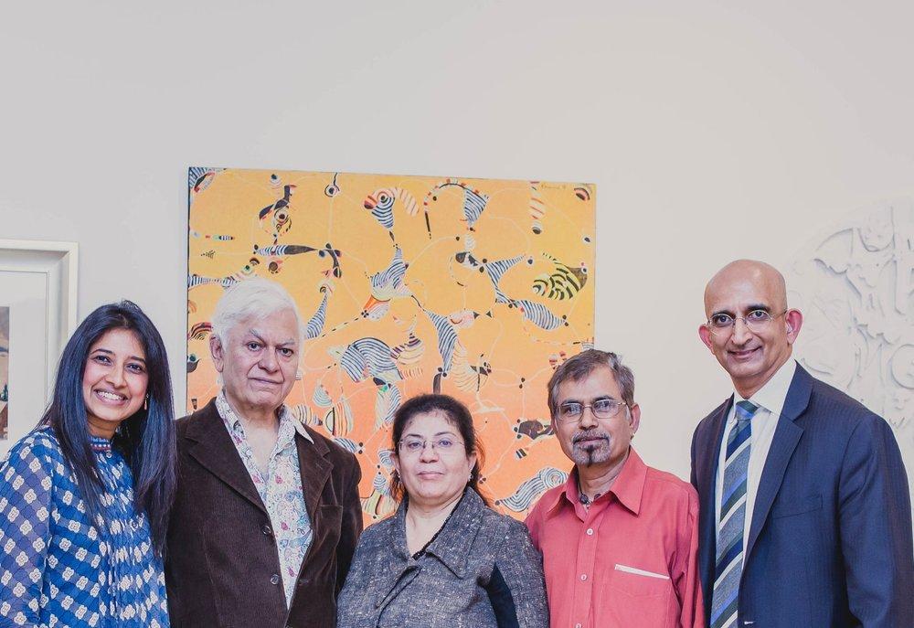 With Balraj Khanna, Vaishali Thakkar, Shanti Panchal and Nayan Kisnadwala