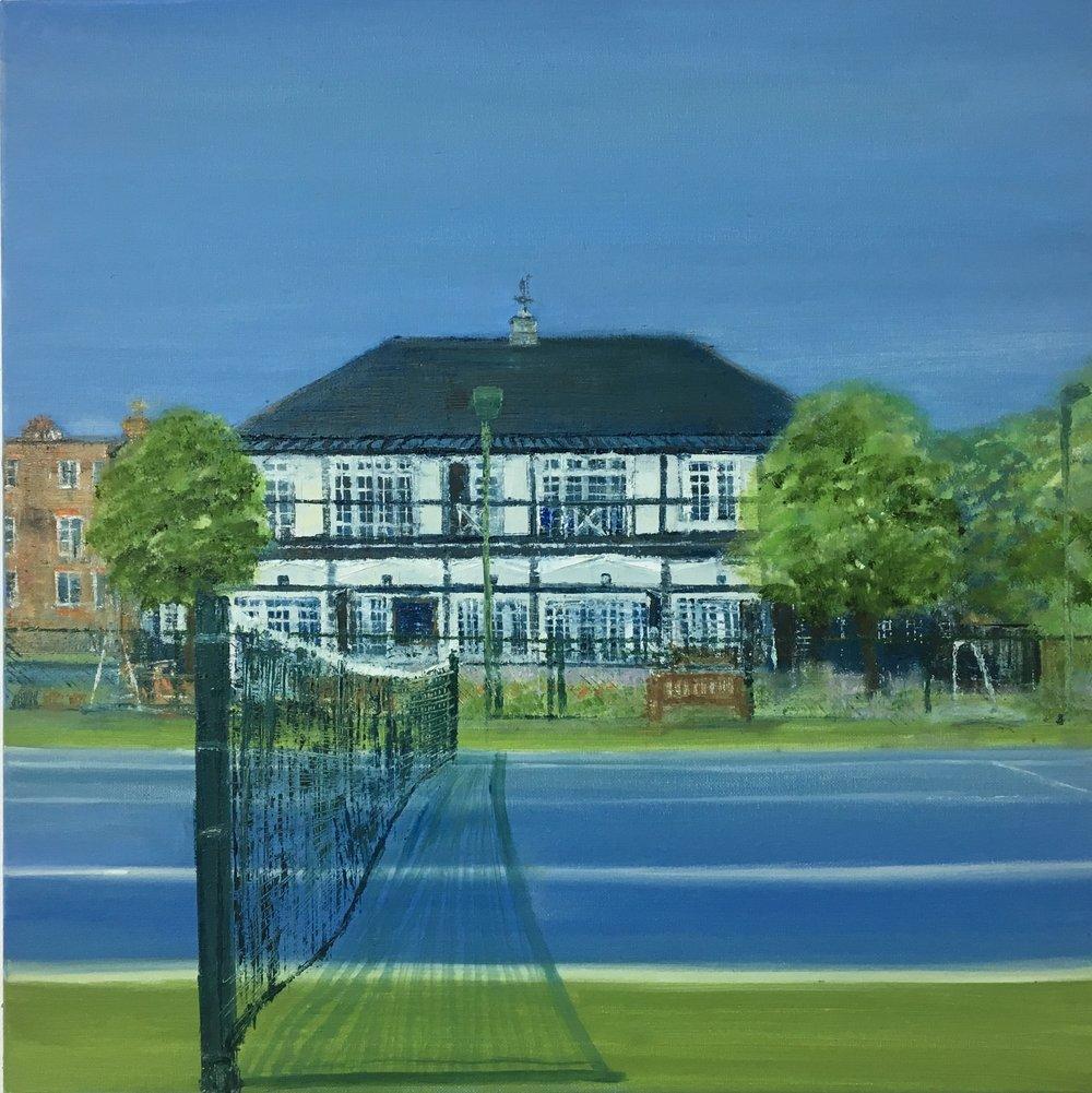 Clubhouse, Paddington Sports Club, Oil, 20 * 20, SOLD