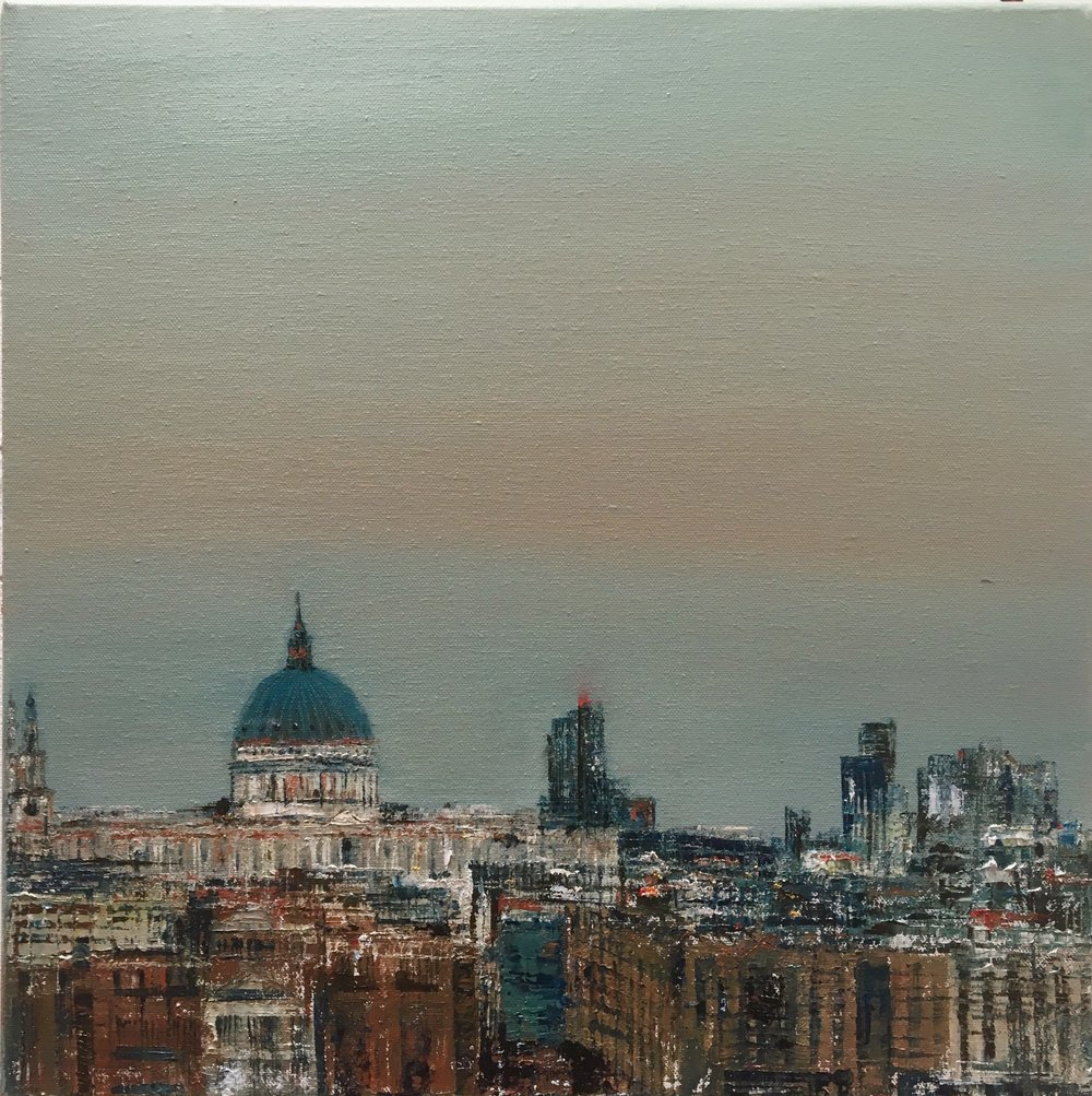 A view from Tate, Oil, 16 * 16, 2017, SOLD