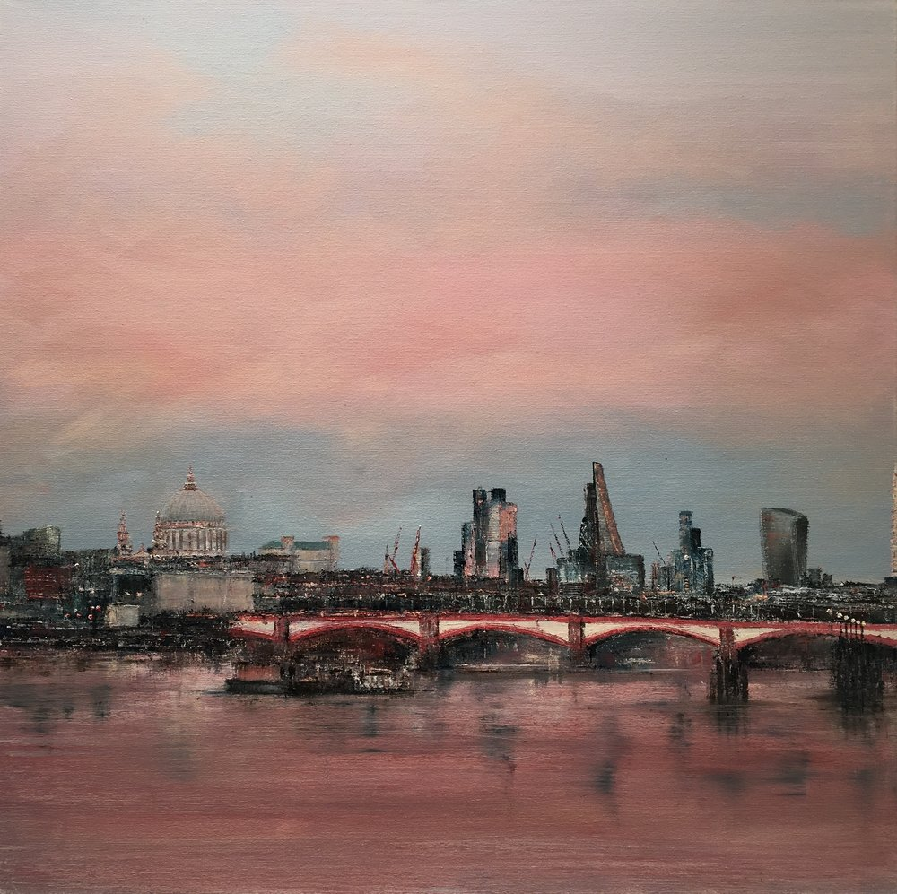 Blackfriars Bridge, Oil, 30 * 30, 2017