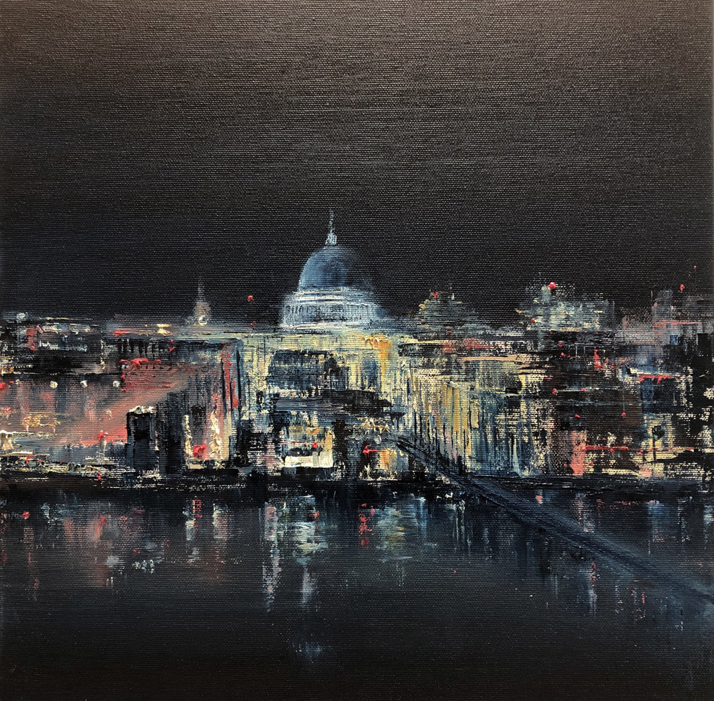 St Paul's, Oil, 16 * 16 inches