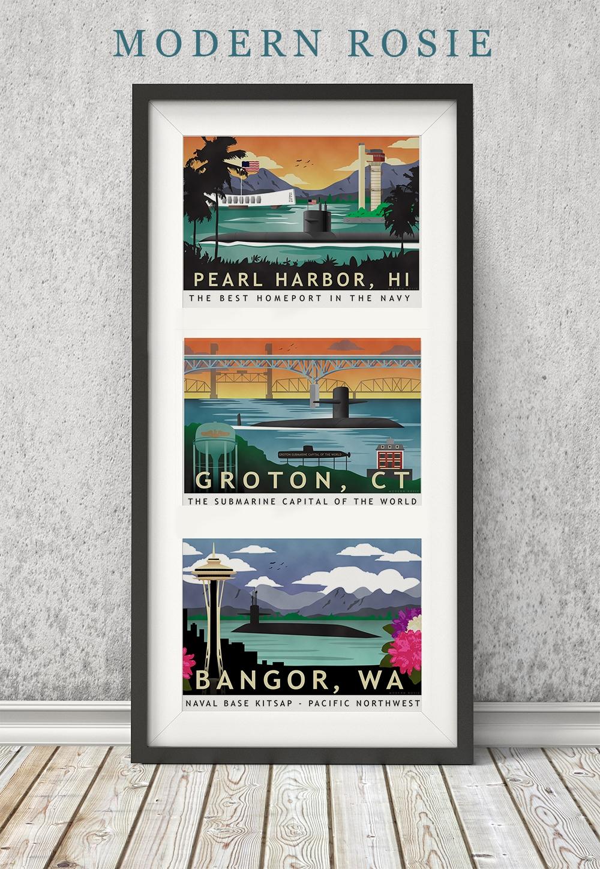 Submarine Homeport Prints