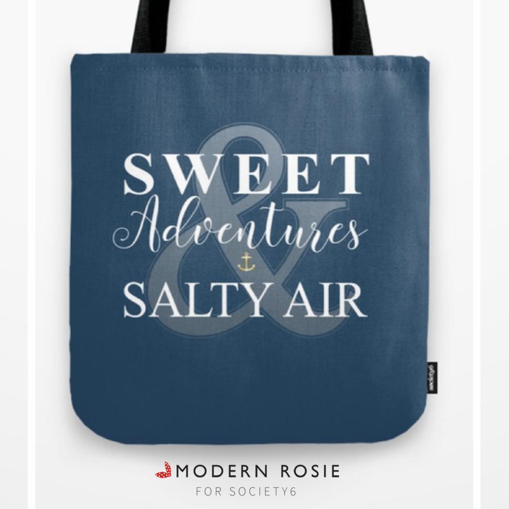 """""""Sweet Adventures &Salty Air"""" Tote Bag - $20.99"""