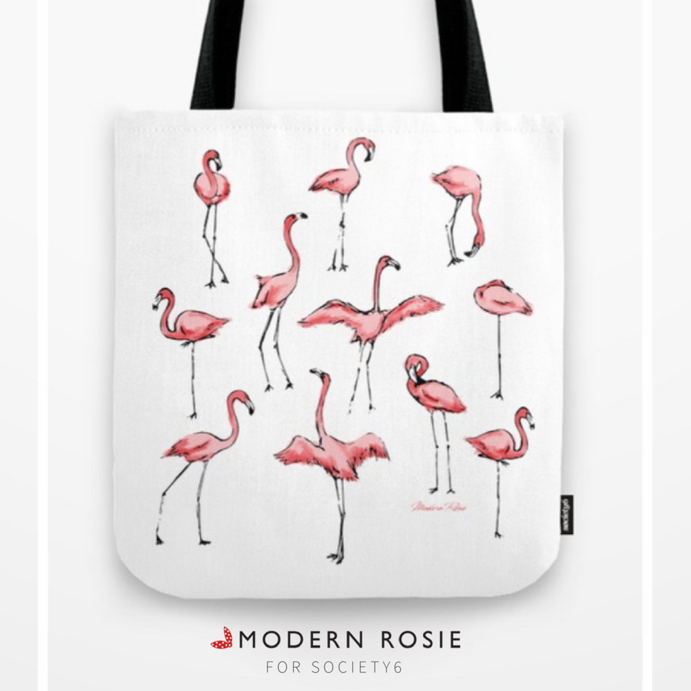 """""""Flamingos"""" Tote Bag - $20.99"""