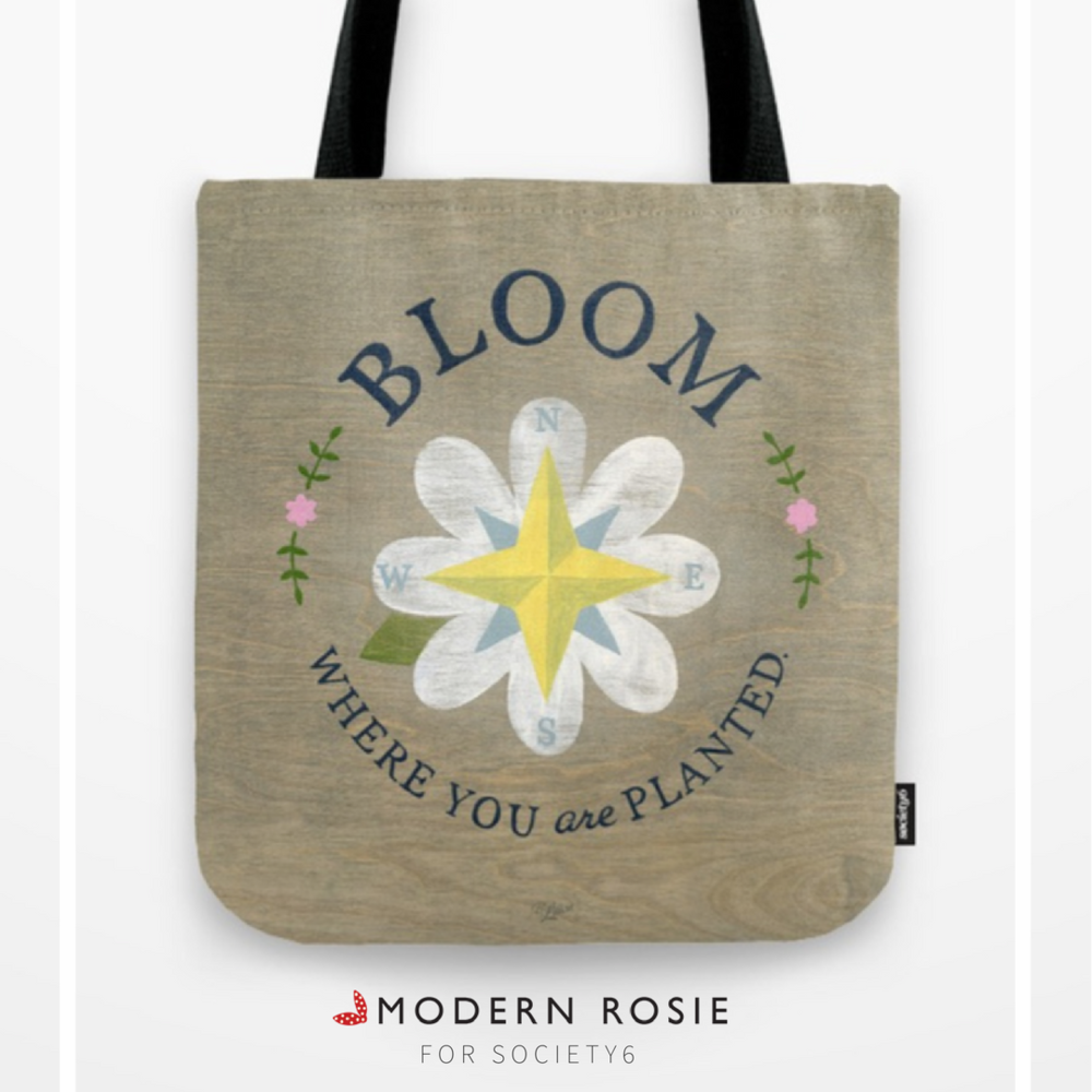 """""""Bloom Where You Are Planted"""" Tote Bag - $20.99"""