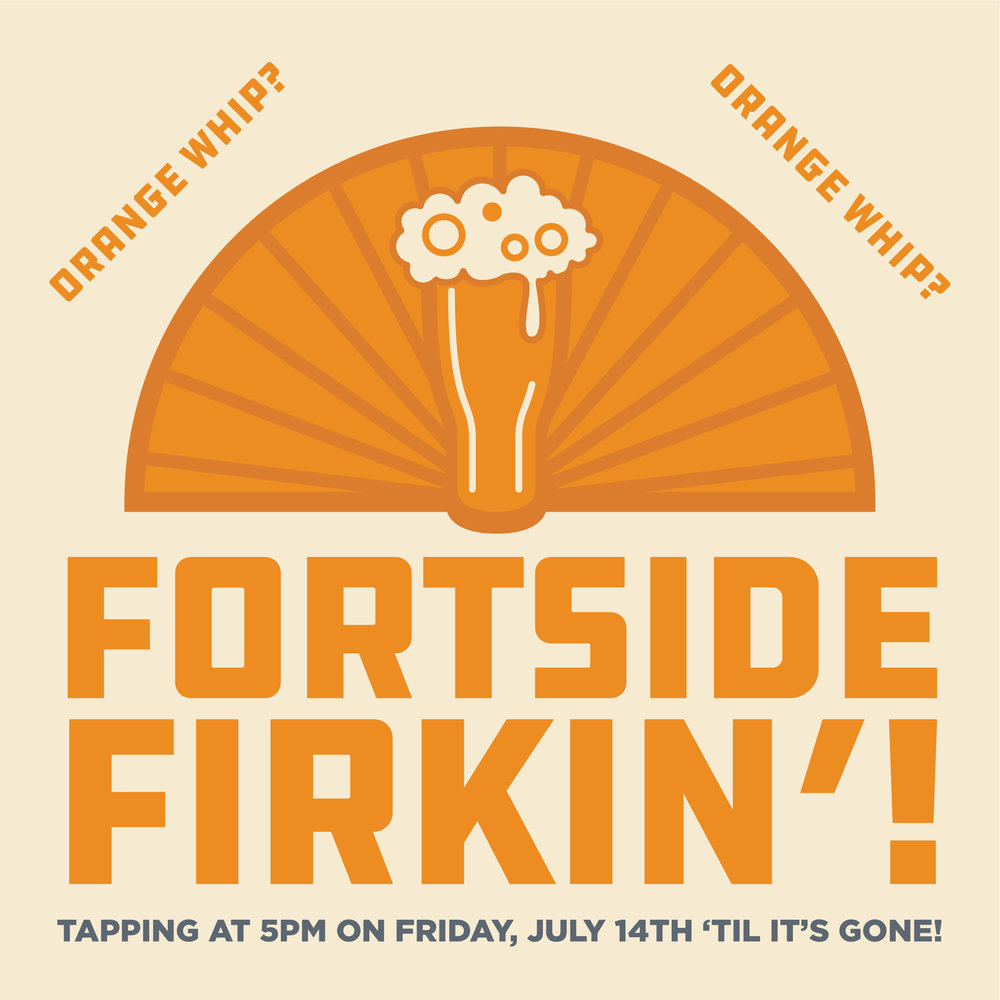 Vancouver's Fortside Brewing made us our very own, can't-get-it-anywhere-else version of their delicious hazy IPA, Orange Whip! It was dry-hopped first with Mosaic & El Dorado and then in the Firkin with more Mosaic and Amarillo andtangerine zest. Come and get it! TAPPING AT 5PM ON FRIDAY, JULY 14TH 'TIL IT'S GONE, ONLY AT FINAL DRAFT TAPHOUSE!