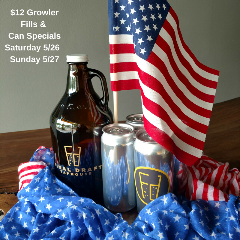 $12 Growler Fills & Can SpecialsSaturday & Sunday.png