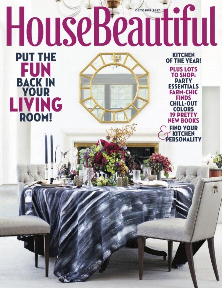 House Beautiful October 48 Christina Rottman Designs Simple House Beautiful Dining Rooms