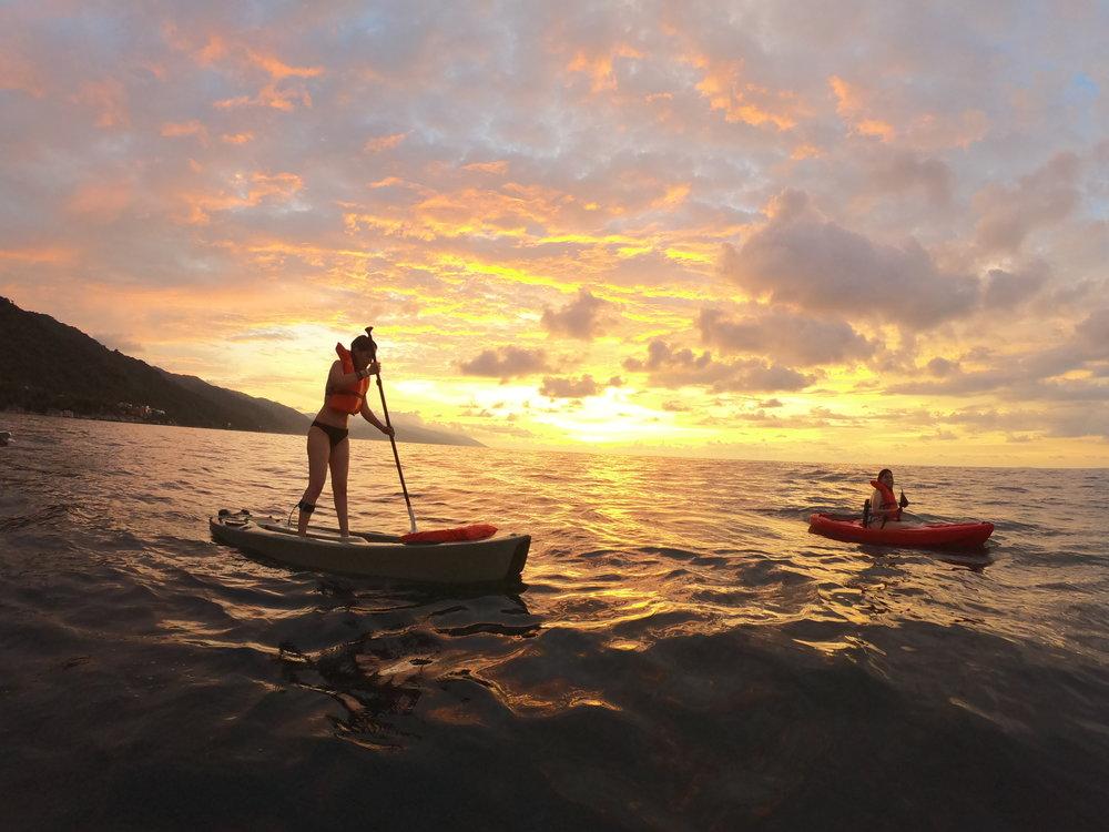 paddle sunset los arcos puerto vallarta