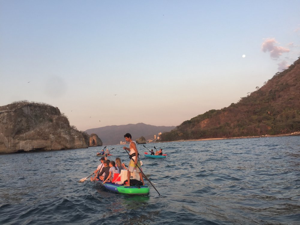 full moon paddle to los arcos
