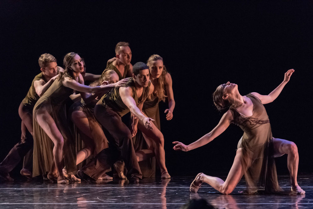 "Trees, Melody  Ms. Jacqueline Stewart with the company in Shannon Alvis' gorgeous work ""Tress, Melody"".  Photo: Thopher Alexander"