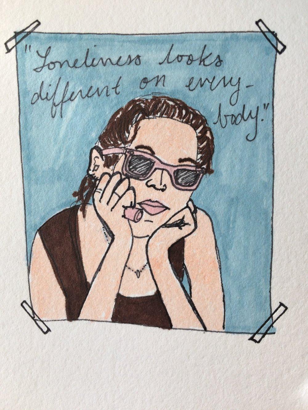 Drawing by Hannah Rehak