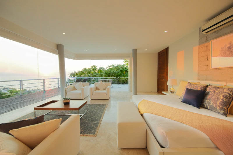 PENTHOUSE SUITE - $2,900 - 1,500 sq. ft., two twins or one king - Lounge area - Wall-to-wall retractable glass - Large wraparound deck - Jacuzzi -Private ensuite - Walk-in closet -Air conditioning - Safe