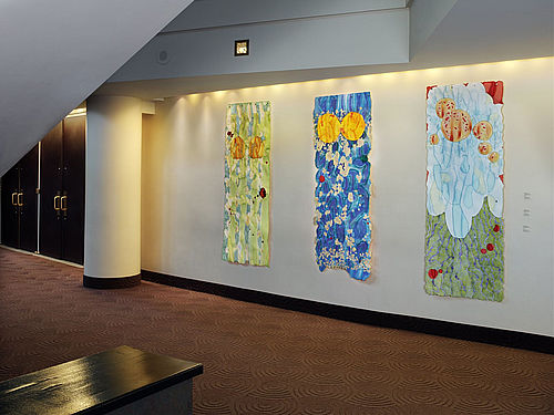Scrolls installed in the Buell Theater in Denver, CO for the Latter   Day Blooms show in 2011