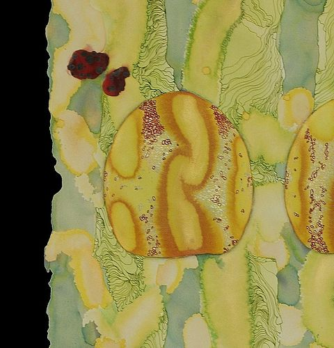 Untitled (Lime Scroll) - detail