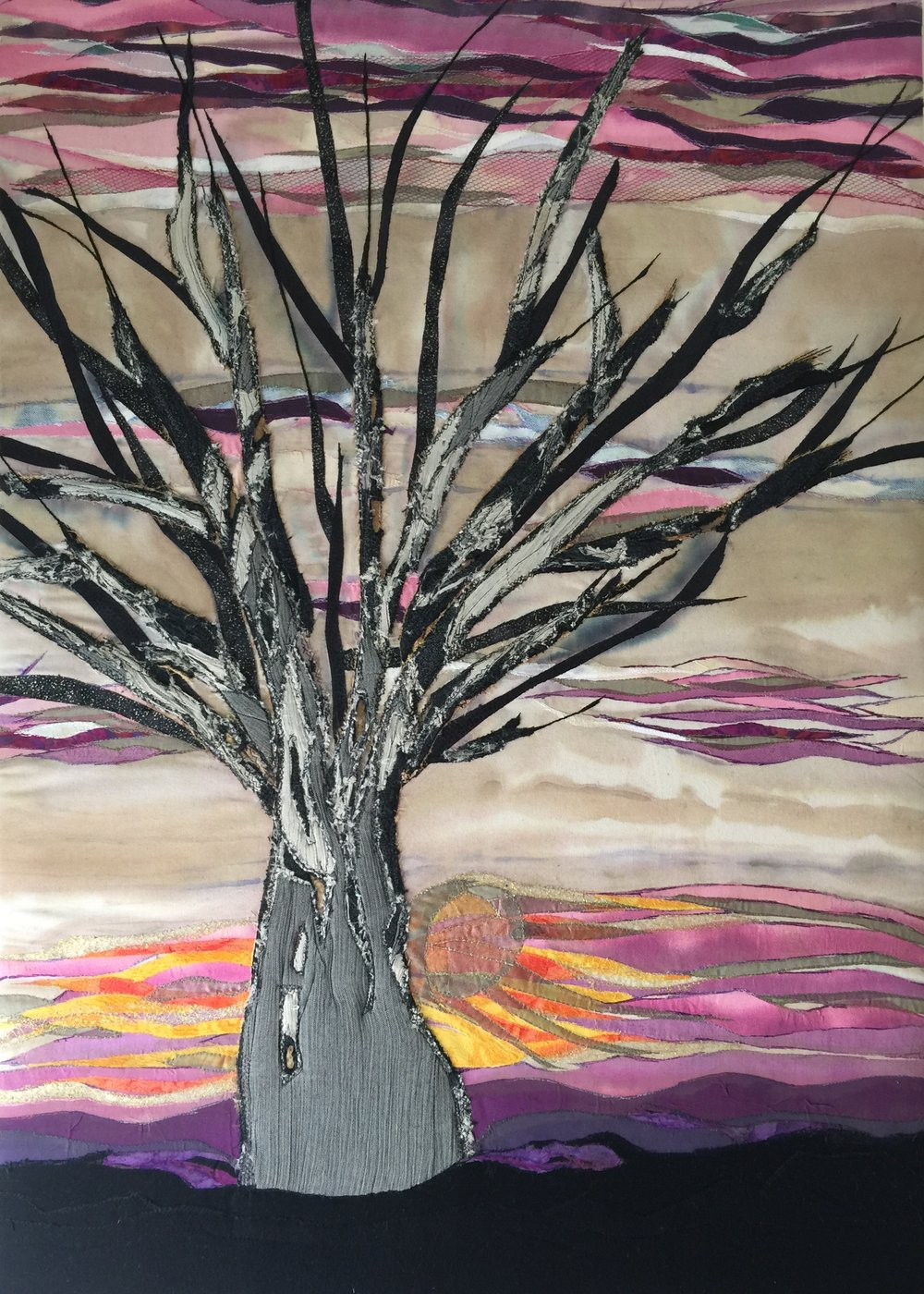Tree at Sunset , 2015  38 × 26 in  $850