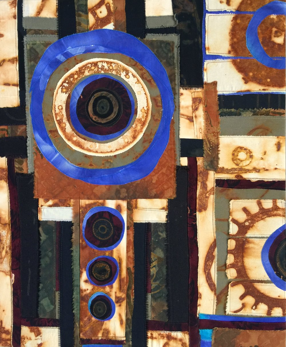Black & Blue Rust , 2015  24 × 19 1/2 in  $450