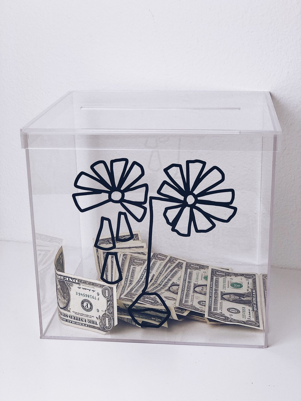 Custom Donation Box for Artist,  CRISTINA MARTINEZ