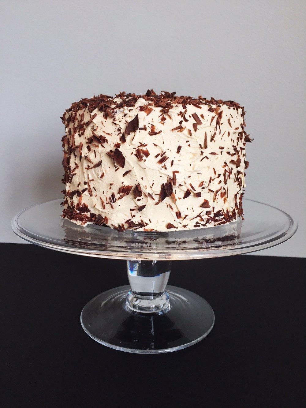 4 layer chocolate cake w/vanilla buttercream
