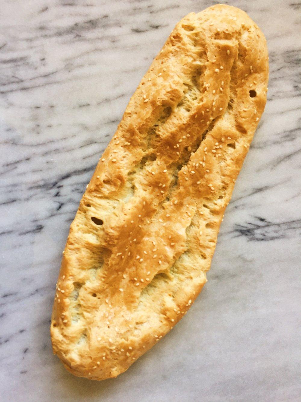 paleo sesame baguette