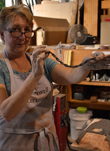 denise-handle-cromwell-ceramics-grasonville-kent-island-pottery-night.jpg