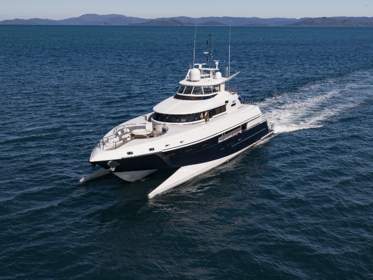 SPECIFICATIONS    Built:  2005 |  Refitted  2016 |  Construction:  Composite   Crusing Speed:  14 Knots |  Top Speed:  19 Knots   Range:  2000 nm   Builder:  New Zealand Yachts   Exterior Designer:  Bakewell-White Yacht Design   Interior Designer:  Ken Freivokh