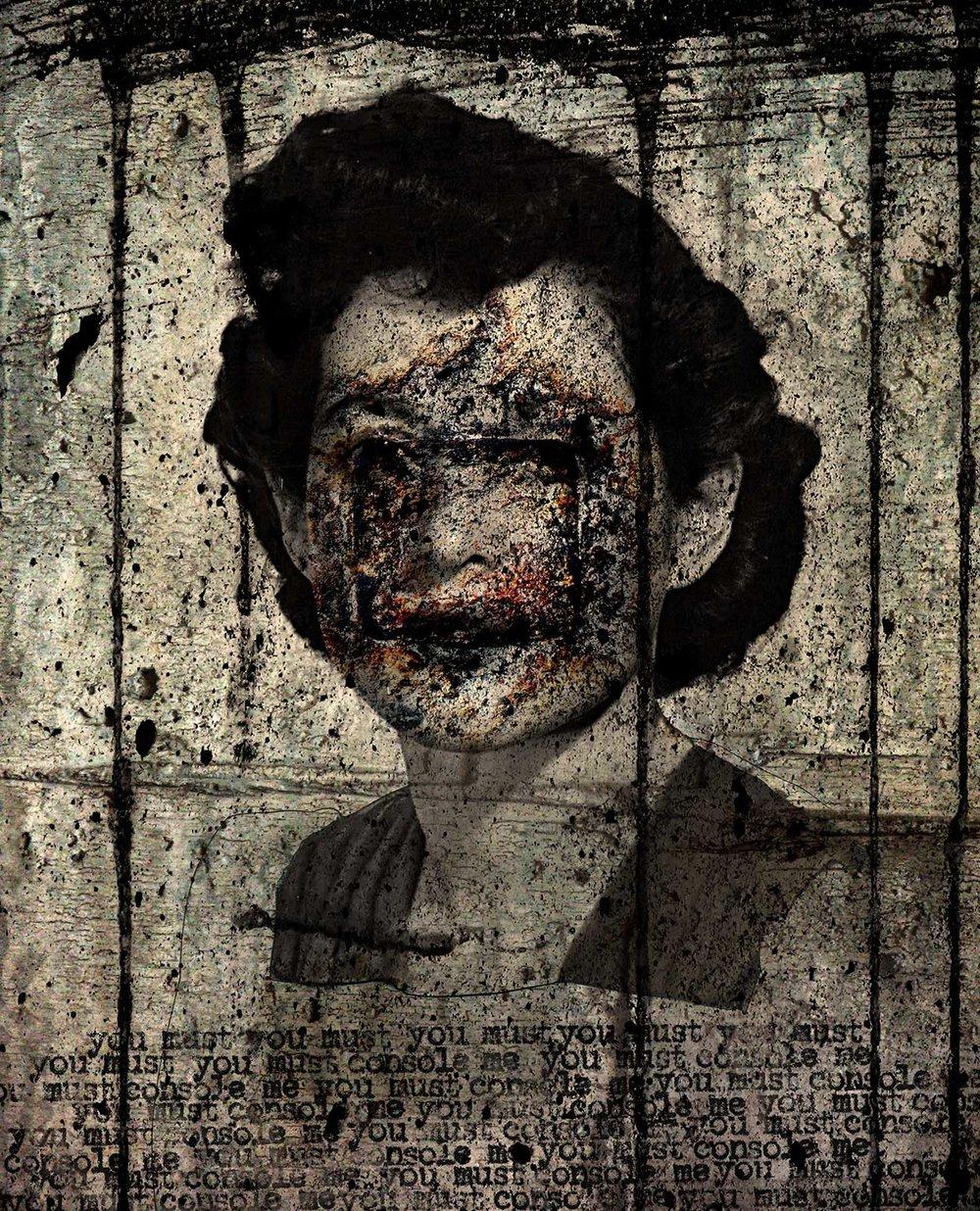 Frances (you must console me)  2012 Archival pigment print 100 H x 81 W cm / 39 ¼ x 31 ¾ in