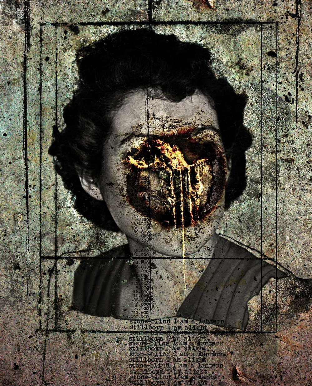 Frances (stone-blind)  2012 Archival pigment print 100 H x 81 W cm / 39 ¼ x 31 ¾ in