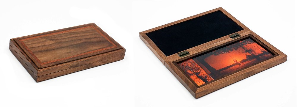 Untitled  2010 From the series  Revisitations  Chromogenic print installed in unique hand-crafted wooden case Image: 10.1 H x 21 W cm / 4 x 8 ¼ in Overall: 3.5 D x 14 H x 24.8 W cm / 1 ½ x 5 ½ x 9 ¾ in