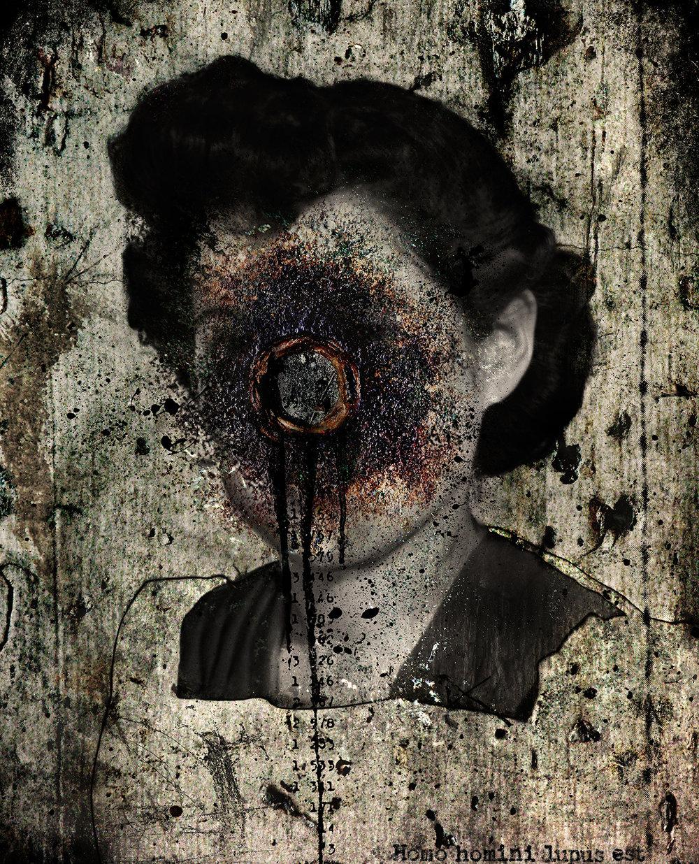 Frances (homo homini lupus est)  2012 Archival pigment print 100 H x 81 W cm / 39 ¼ x 31 ¾ in